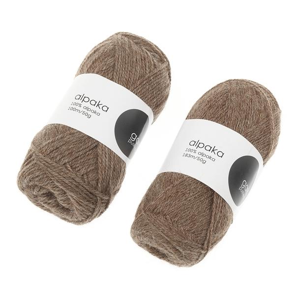 alpaca-garn-brun