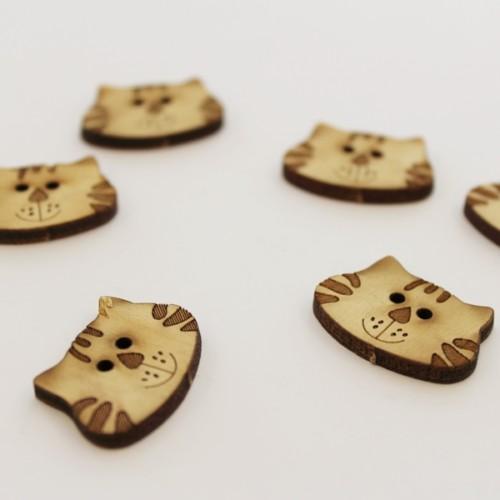 knap014-kattehoved-træknap-6stk