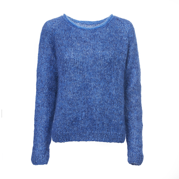 Lillys lette sweater garnkit - en skøn basis strikbluse i blødt superkid mohair garn