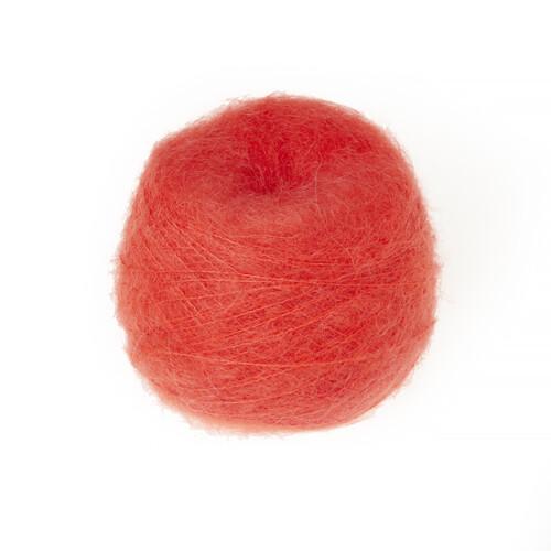Superkid mohair garn koral er en kvalitets mohair garn i en stærk orange farve.