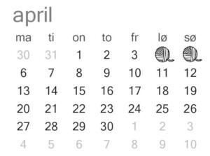messeoversigt april garnpusher