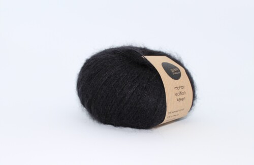 Mohair edition 4eren garn black sort