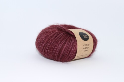 Mohair edition 4eren garn bordeaux
