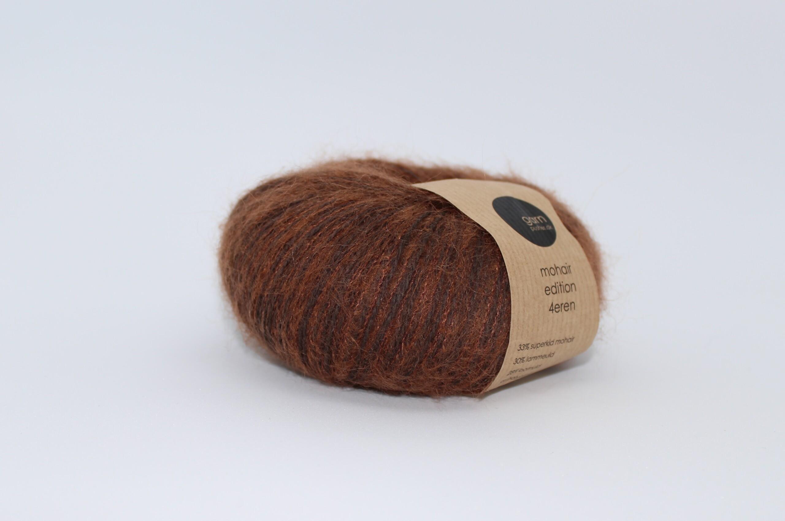 Mohair edition 4eren garn dark caramel gylden brun