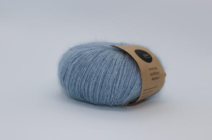 Mohair Editon 4eren garn light blue lyseblå