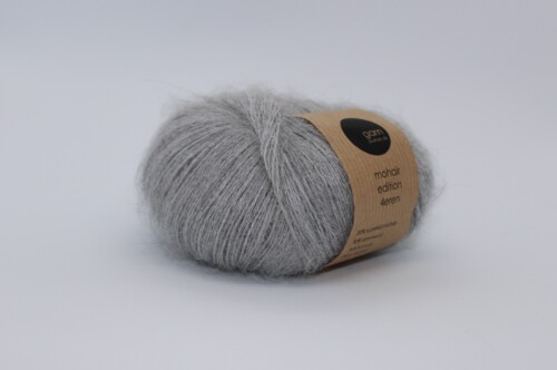 Mohair edition 4eren garn light grey lysegrå