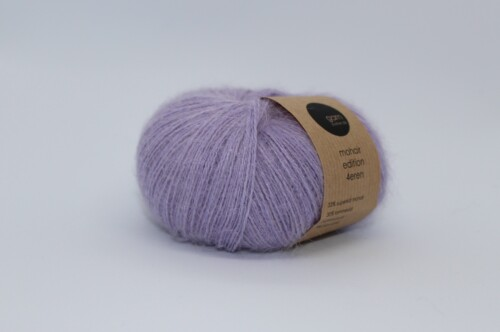 Mohair edition 4eren garn light purple lyslilla