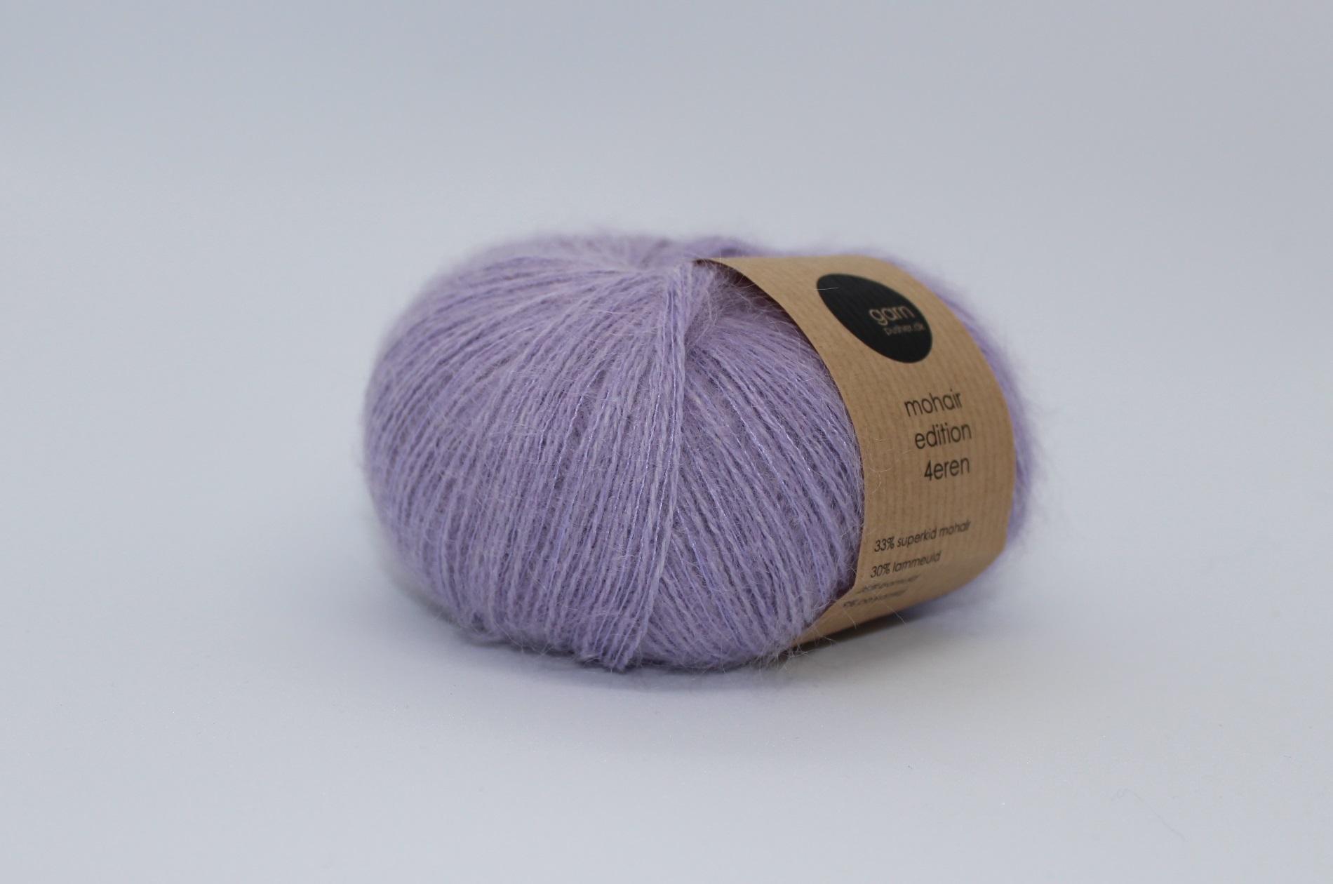 Mohair edition 4eren garn light purple lyslilla