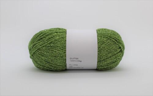 limegrøn glitter garn