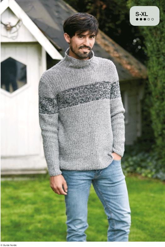 meleret herresweater