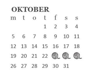 Messekalender oktober