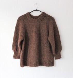 Brun Saturday Night sweater i mohair edition 4eren